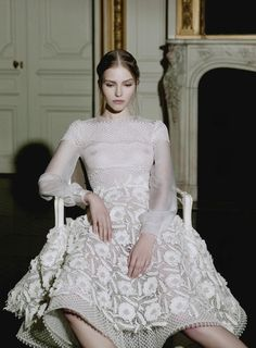 sasha luss wearing this season's valentino couture for Vogue Italia. photos by gian paolo barbieri...