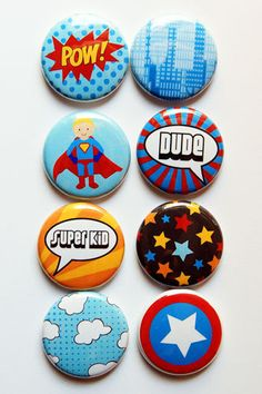 Super Hero Flair by aflairforbuttons on Etsy, $6.00 #flair #flairbuttons