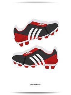 Adidas Predator Mania Red/Black Football Poster