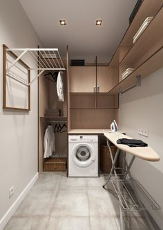 classic practical home textiles laundry room storage design ideas 20 ~ . classic practical home textiles laundry room storage design ideas 20 ~ … Modern Laundry Rooms, Laundry Room Layouts, Farmhouse Laundry Room, Laundry Room Organization, Laundry Storage, Basement Laundry, Laundry Closet, Modern Room, Organization Ideas