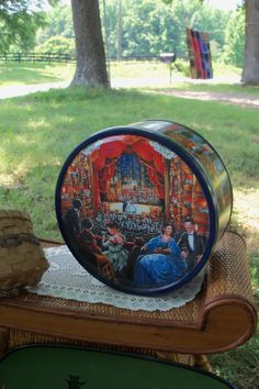 Tin Night At The Opera Round Butter Cookie by AntiquesandVaria, $14.60