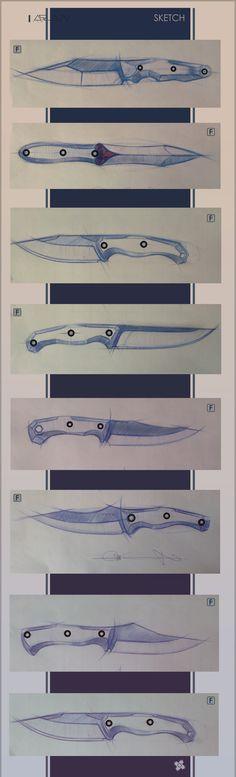 knives Cool Knives, Knives And Tools, Knives And Swords, Diy Knife, Knife Art, Bowie Messer, Knife Drawing, Knife Template, Knife Making Tools