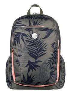 roxy, Alright Printed - All-Over Printed Backpack, INDO FLORAL COMBO DUSTY OLIVE (gpb6)