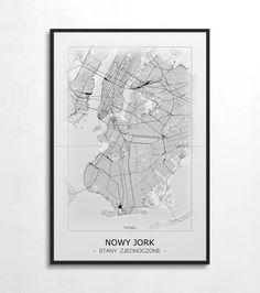 Plakat - mapa - Nowy Jork  Gdzie kupić? www.eplakaty.pl