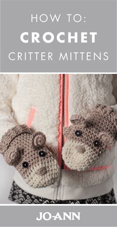 Can we talk about how adorable these Crochet Critter Mittens are? Using your crochet skills, you can easily make this cute animal-themed winter accessory for the little one in your life.