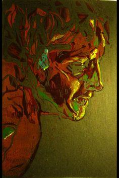 Titulo: Sin titulo  Autor: Camilo A. Lamprea León Técnica: grabado plancha perdida Año: 2011 https://www.flickr.com/photos/crisalidaart/