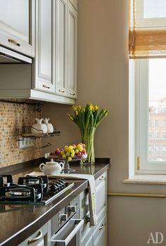 gray, yellow - kitchen