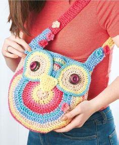 FREE CROCHET PATTERN: owl tote bag