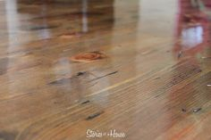 DIY: hardwood floor repair. Tung oil is a natural oil that is thinned with solvents so that it will soak into the wood pores. Once the solvents evaporate, it is non-toxic.