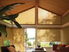 Common in contemporary homes, angled windows bring up some unique challenges in providing privacy and light control and keeping your home energy efficient. http://www.vlonne.com/products/SpecialtyShapes/AngledWindowTreatments