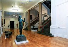 In the foreground, 'The Age of Bronze' by Auguste Rodin. In the background are sculptures by Antony Gormley. Leeds Art Gallery, Antony Gormley, Auguste Rodin, Sculptures, Bronze, Age, Display, Places, Instagram