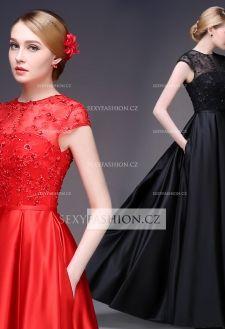 Luxusní maturitní růžové šaty z řady DB 2504-004 (7)