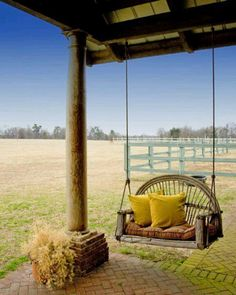 Porch swing with a view...