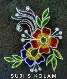 Easy Rangoli Designs Diwali, Indian Rangoli Designs, Rangoli Designs Latest, Rangoli Designs Flower, Free Hand Rangoli Design, Rangoli Border Designs, Small Rangoli Design, Rangoli Patterns, Rangoli Ideas