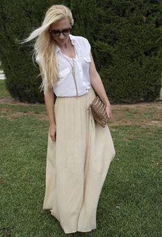 Fashion style long skirt