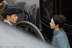 Outlander's Sam Heughan films series three in Edinburgh | Daily Mail Online