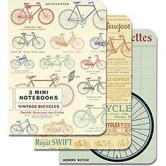 Cavallini Vintage Bicycles Mini Notebooks