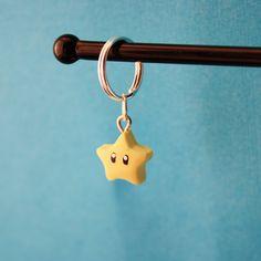 Super Mario Star Polymer Clay Keychain Charm. $1.50, via Etsy. Fimo Clay, Polymer Clay Charms, Porcelain Clay, Cold Porcelain, Mario Star, Toy Workshop, Clay Keychain, Jumping Clay, Diy Jewelry