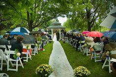 Door County wedding  in the rain