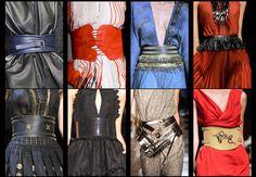 Fashion meteo: cinte, fasce obi, corazze multi fibbia e frange gipsy