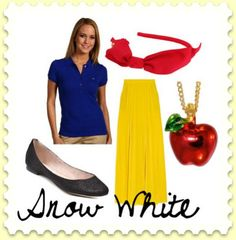 Snow White teacher outfit cute for character dress up days ....or any day (:
