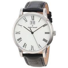 Claude Bernard Men's 63003 3 BR Classic Dial Black Watch