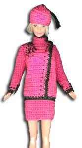 robe barbie crochet tailleur rose