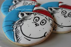 Cat in the Hat Round Cookies (Yankee Girl Yummies)
