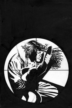 Sin City: Hell and Back #1 (unused cover) by Frank Miller *