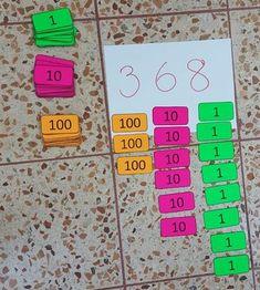 Place Value Math Centers - A Kinderteacher Life Math For Kids, Fun Math, Math Activities, Creative Activities, Math Classroom, Kindergarten Math, Teaching Math, Preschool, Montessori Math