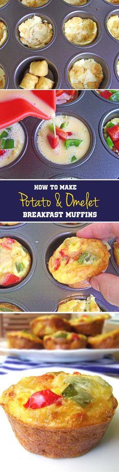 Potato & Omelet Breakfast Muffins   Nosh-up