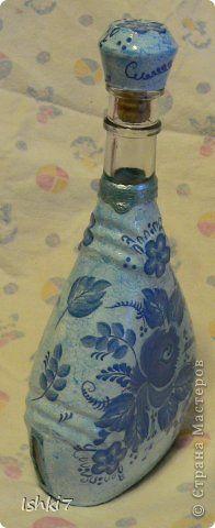 Itens de decoração Decoupage cracelures garrafas Mais garrafas de vidro decoupage Guardanapos Pintura Foto 4