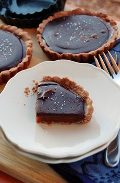 Salted Caramel Chocolate tortes?  Yes, please!