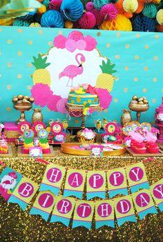 FLAMINGO Party - Flamingo BACKDROP - Flamingo