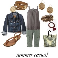 Summer casual, created by mckalarose on polyvore.