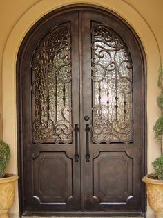 64x98 Blossom Iron Double Door Beautiful Wrought Iron