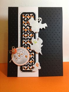 #papercraft #halloween #card.     Boo card