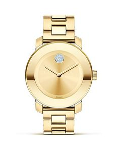 Movado BOLD Yellow Gold Plated Museum Dial Watch, 36mm - Fine Watches - Shop by Style - Fine Jewelry - Bloomingdale's