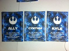 """""""Will you become a part of my bridal alliance and join me in the fight against the empire as my bridesmaid?"""" Star Wars Cards asking my bridesmaids to join me on my wedding day. Perfect for my Star Wars wedding"""