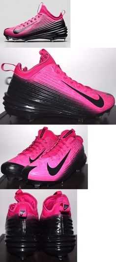 69e20bde69c Mens 159059  Nike Lunar Trout Mothers Day Baseball Cleats Size 12 Black  Pink 777175-600 BUY IT NOW ONLY   49.99