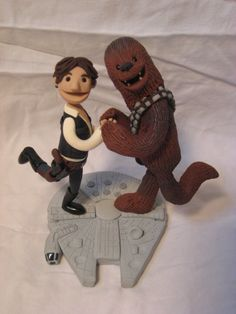 A Man and his Wookiee  Star Wars Sculpture by RooksMenagerie, $200.00