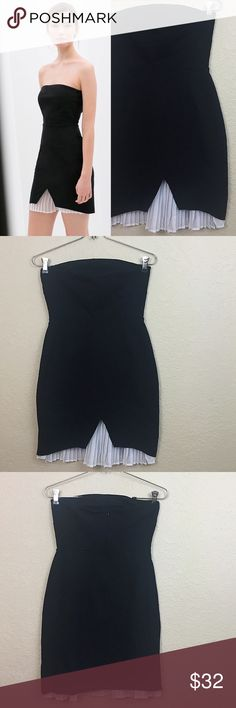 Zara dress price firm Zara strapless dress new with tags size small Zara Dresses Mini