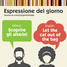 Italian / English idiom: let the cat out of the bag