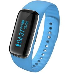 ONSON Smart Fitness Tracker,Wireless Sleep Heart Rate Monitor Activity Tracker Wristband Sport Bracelet Watch for Iphone Android(Blue). Fitness tracker: Keep track of your daily activities (steps, sleeping quality, calories, distances). You can set a colcks with slitly vibrate (wake up time, meeting time, dating time etc.) take control of your life. USB charging: Remove the strap, you can connect it with your computer or USB port to charge. It is so convenient. And 5-7 days Standby design...
