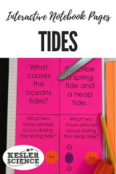 Analyze spring and neap tides and their relationship to moon phases. Turn science notebooks into a fun, interactive, hands-on learning experience for your upper elementary or middle school students! Grades 3rd 4th 5th 6th 7th 8th