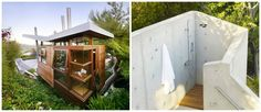 Quirky tree house with an outdoor shower! #quirky #home #treehouse