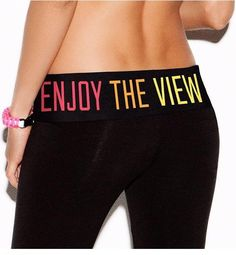 haha victoria secret yoga pants. will def need to get a pair of these.