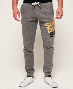 Shop Superdry Mens Series Joggers in Basalt Grindle/black/ice Marl. Buy now with free delivery from the Official Superdry Store. Sweatpants Outfit, Mens Sweatpants, Jogger Sweatpants, Mod Fashion, Mens Fashion Suits, Sporty Fashion, Fashion Women, Sporty Outfits, Sporty Style
