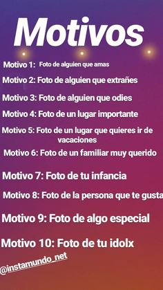 10 motivos instagram stories | Instamundo Instagram Story Template, Instagram Story Ideas, Instagram Quotes, Instagram Tips, Foto Instagram, 30 Days Photo Challenge, Funny Questions, Tumblr Love, Sad Love