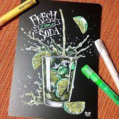 Com Acrylic pour painting - My Life Hane Program Chalkboard Hand Lettering, Blackboard Drawing, Blackboard Paint, Chalkboard Drawings, Chalkboard Designs, Chalkboard Art, Chalk Design, Pop Design, Starbucks Art